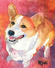 Corgi Dog 8x10 Art Print Signed by Artist Ron Kra