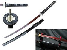 "RYUJIN 41"" Orange Red Damascus Handmade Japanese Samurai Sword (1060 + 1045)"