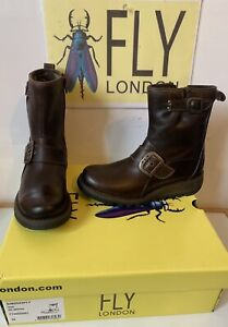 Fly London Sino Comfy Leather Boots Size UK 3 EU 36