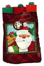 "Crafty Christmas Super Giant Plastic Gift Sacks (1 Piece), Red/White, 44"" x 54.5"