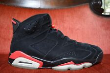 WORN 2X Nike Air Jordan 6 IV Retro Black Infrared 2010 Pack 23 384664 003 US 11