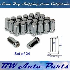 "24 Bulge Acorn Lug Nuts M14x2.0 Chrome 2"" XL Ford Expedition F150 Navigator"