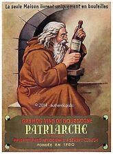 PUBLICITE GRAND VIN DE BOURGOGNE PATRIARCHE A BEAUNE DE 1944 FRENCH AD WINE PUB