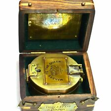Brunton Compass Makers to the Queen 1920 London Compass With Wooden Case