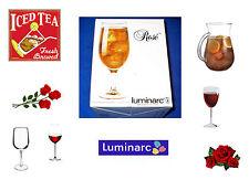 Luminarc Fine Stemware. Set of 4 Iced Beverage/Wine Cooler 16oz. New. Unused.