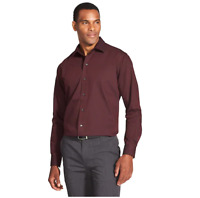 Van Heusen Men's Classic Fit Easy Care Burgundy Striped Long Sleeve Shirt 2XL