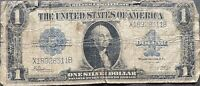USA 1 Dollar 1923 Banknote Large Size US Silver Certificate Schein One  #22078