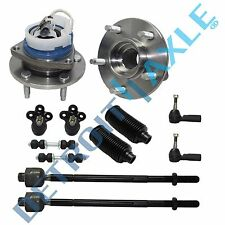 New 12pc Front Hub and bearing, inner, outer tie rod ball joint swaybar link