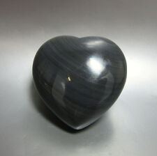 Black Obsidian Puffed Heart - 45mm - Crystal Healing