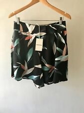 COUNTRY ROAD : [CR LOVE] NEW! SZ 10,12,16 tropical print short black leaf S,M,XL