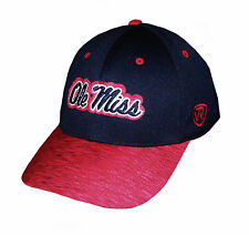 "Ncaa Mens Apparel - Mississippi Rebels ""Top Of The World"" Ncaa Cap, Hat, M/L Fit"
