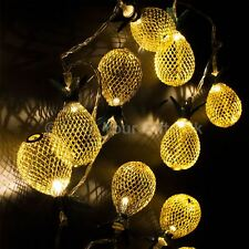 Gold Pineapple LED Fairy Lights 90cm Long Christmas Fairy Party Lights String