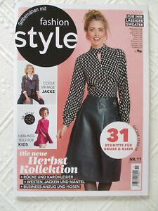 Fashion Style 11/2020 Schnittmusterheft - Gr. 34-54 – für ihn 46-58 – Kinder div