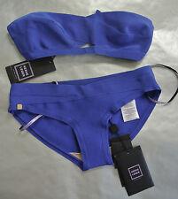 Herve Leger Blue Sapphire ' Loretta ' Bandeau Bikini Set Size:Small NEW
