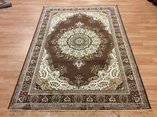 Washable Large Brown Traditional Persian Oriental Silk Like Rug 160x230cm 60 off