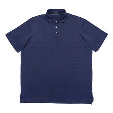 New listing Greyson Men's Size L UBS Omaha Golf Polo Shirt Navy Blue Short Sleeve