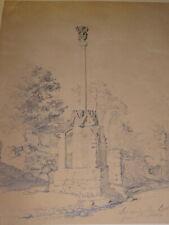 Emmanuel LAURET (Var 1809 -Toulon 1882) DESSIN ANIME SAINT MALO BRETAGNE 1840