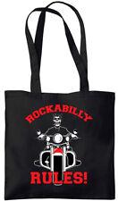 Rockabilly Rules - Dead Biker - Tote Bag (Jarod Art Design)