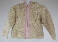 Girls size 3T Gymboree Leopard Hoodie Sweater Zip Front