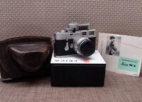 """Leitz Wetzlar - Leica M3 DS Kit Elmar-M 1:4/90mm """"1a Sammlerstück"""" - TOP!"""
