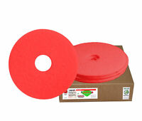 """Case of 5 Sanico MVP Lead Off 12"""" Red Buffing Floor Pad"""