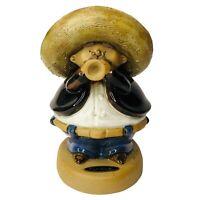 Vintage Rodo Padilla Mexican Trumpet Mariachi Player Clay Art  Statue