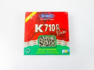 KMC Kette K710SL Silber Rot Blau Weiss