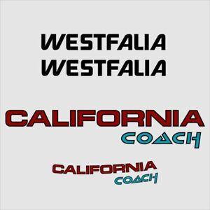 Aufkleber California Coach und Westfalia