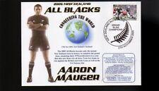 Aaron Mauger Nz All Blacks 2005 Grandslam Champions Cv