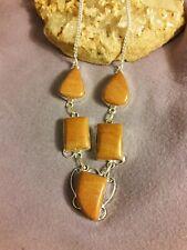 "Artisan Genuine agate gemstone 18"" Chain Necklace New Women Jewelry"