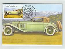 S. TOME MK Voiture Oldtimer Mercedes Cabriolet Cars CARTE MAXIMUM CARD MC cm m258