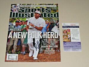 Bubba Watson signed 2012 Masters Sports Illustrated Magazine JSA PGA Tour Golf