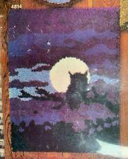 "New listing Vintage Artcraft Concepts Midnight Owl Latch Hook Kit 24"" x 34"""