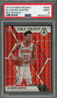 De'Andre Hunter Hawks 2019 Panini Mosaic Red Prizm Rookie Card #266 PSA 9 MINT