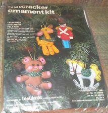 Vintage Lee Wards 1980 Felt Jeweled Nutcracker Rocking Horse Christmas Ornaments