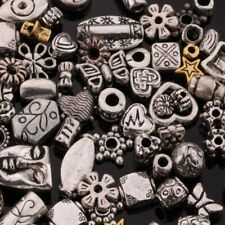 Mixed Spacer Tibet Silver Beads For Jewelry Making DIY Bracelet (About 90pcs) CA
