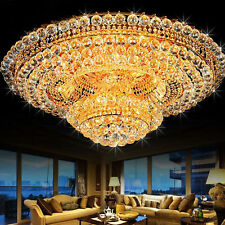 Luxury K9 Crystal Chandeliers Dimmable Led Light Pendant Lamps Ceiling Fixtures