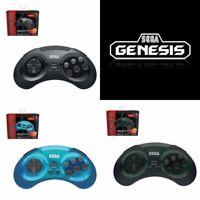 retro-bit SEGA Licensed Genesis 8-button Arcade Pad - Wireless 2.4ghz - Shadow