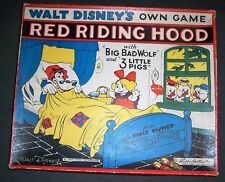1933 Silly Symphony Game RED RIDING HOOD, Big Bad Wolf 3 LITTLE PIGS Walt Disney