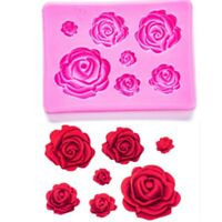 3D Roses Flower Silicone Mould Fondant Chocolate Cake Decorating Baking Mold DIY