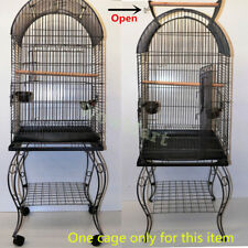 NEW Large Parrot Canary Open-Top Bird Cage Aviary & Castor Stand (Model A)