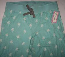 NWT PJ Salvage Aqua/White PALM TREES Jersey Knit Pajama/Lounge JOGGER Pants XL