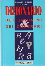 Asciuti Busto Gallo Dizionario dei sinonimi e dei contrari 1993  5947