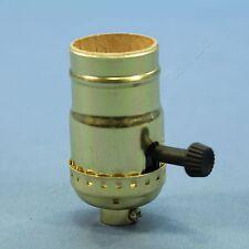 Pass & Seymour Turn Knob 3Way Light Socket Polished Gilt Lampholder 250V 7090-PG