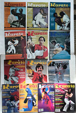 Vintage 13 Karate Illustrated Magazine Lot Martial Art Judo Mma Kung Fu Weapon
