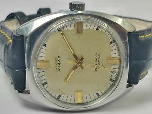 Vintage Hmt Vijay Analog Dial Mechanical Handwinding Mens Wrist Watch WU104 F