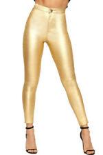 Jeans da donna slim, skinny in oro