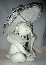 Katherine's Collection Harlequin Victorian Monkey w/ Parasol Umbrella Lace MINT