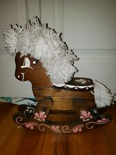Cute Cutest Rocking Horse For Dolls Wooden