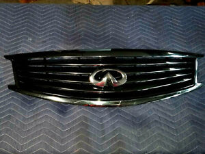 INFINITY G25 G37 Q40 One Used Front Bumper Grill Chrome w Emblem OEM 62310-1NF1A
